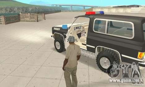 Chevrolet Blazer Sheriff Edition pour GTA San Andreas vue intérieure