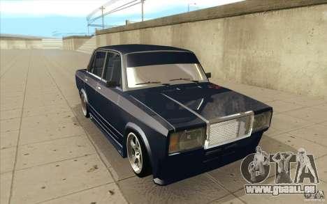 Lada VAZ-2107 rue dérive à l'écoute pour GTA San Andreas vue arrière