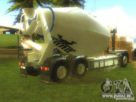 DAF XF ETS 2008 Betonamešalka pour GTA San Andreas sur la vue arrière gauche