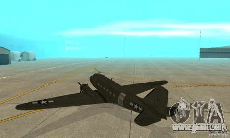 C-47 Skytrain pour GTA San Andreas vue de droite