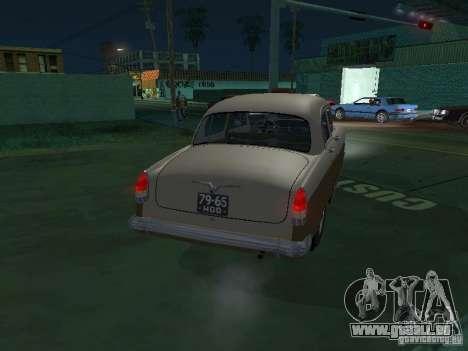 GAZ M21T Taxi pour GTA San Andreas vue de droite