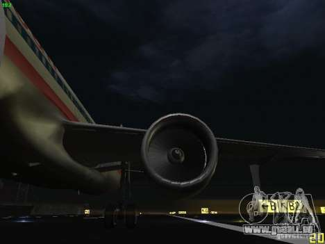 Airbus A320 für GTA San Andreas Seitenansicht