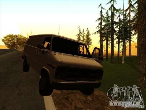 GMC Vandura C1500 pour GTA San Andreas vue arrière