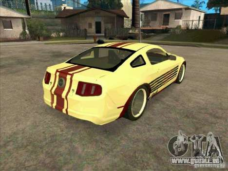 Ford Mustang Jade from NFS WM pour GTA San Andreas vue de droite