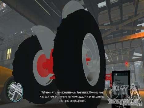 Ford 8N pour GTA 4 est une vue de l'intérieur