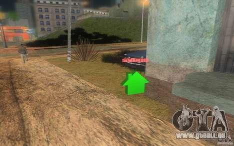 La maison du vert pour GTA San Andreas troisième écran