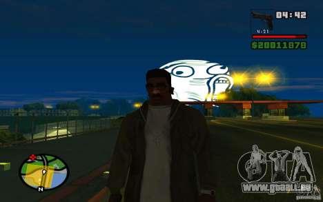 Lol Guy dans le ciel pour GTA San Andreas troisième écran