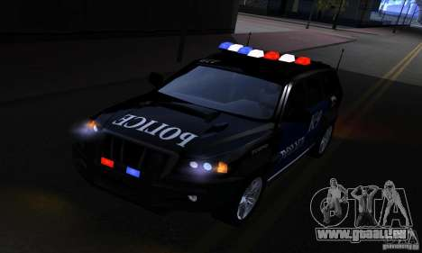 NFS Undercover Police SUV pour GTA San Andreas vue arrière