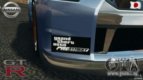 Nissan GT-R 35 rEACT v1.0 pour GTA 4 est une vue de l'intérieur