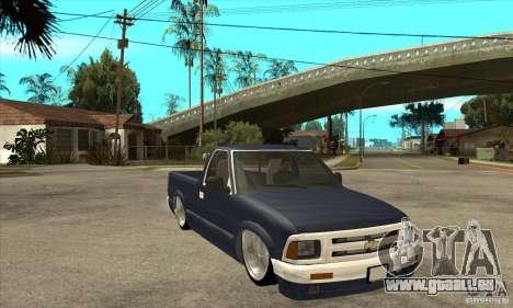 Chevrolet S-10 1996 Draggin pour GTA San Andreas vue arrière