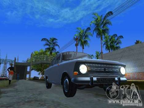 AZLK-412 pour GTA San Andreas vue arrière