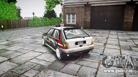 Lancia Delta Integrale Martini 1992 pour GTA 4 Vue arrière de la gauche