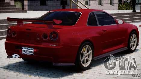 Nissan Skyline GT-R 34 V-Spec für GTA 4 Innen