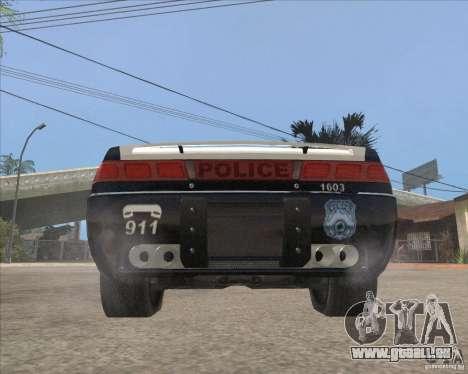 Police NFS UC pour GTA San Andreas vue arrière