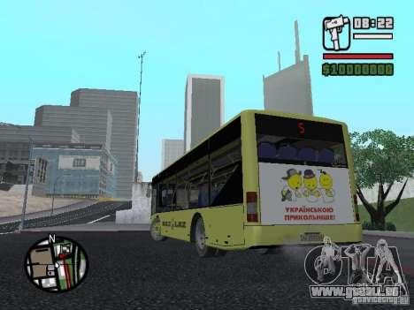 LAZ présenté (SitiLAZ 10) pour GTA San Andreas sur la vue arrière gauche