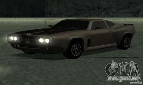 Hunter Kavallerie von Burnout Paradise für GTA San Andreas zurück linke Ansicht