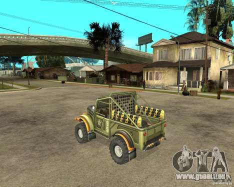 GAZ 69 Testversion für GTA San Andreas linke Ansicht