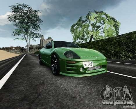 Mitsubishi Eclipse GT-S pour GTA 4 est une vue de l'intérieur