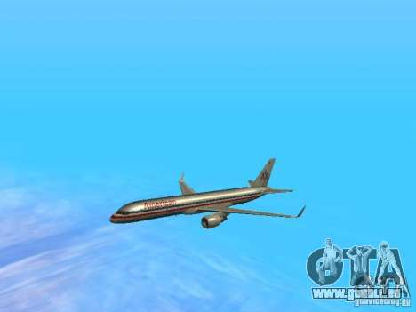 Boeing 757-200 American Airlines für GTA San Andreas obere Ansicht