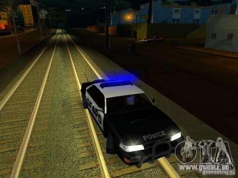 San-Fierro Sultan Copcar für GTA San Andreas obere Ansicht