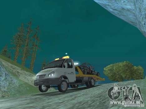 GAZ 3302 2003-2011. Abschleppwagen für GTA San Andreas Rückansicht
