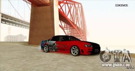 Nissan Skyline R34 Evil Empire pour GTA San Andreas vue de droite
