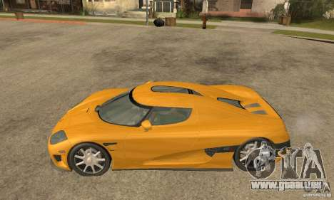Koenigsegg CCX (v1.0.0) pour GTA San Andreas laissé vue