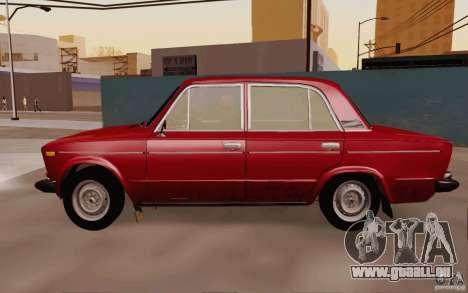 VAZ 2106 Drain pour GTA San Andreas sur la vue arrière gauche
