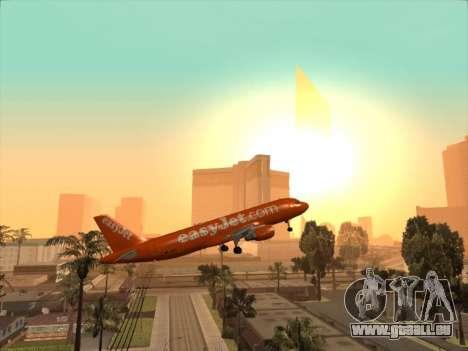 Airbus A320-214 EasyJet 200th Plane pour GTA San Andreas vue de dessus