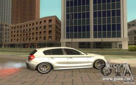 BMW 120i für GTA San Andreas linke Ansicht