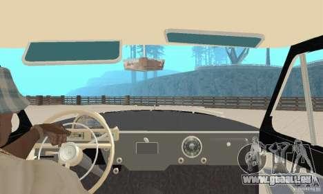GAZ-21 Volga für GTA San Andreas Rückansicht