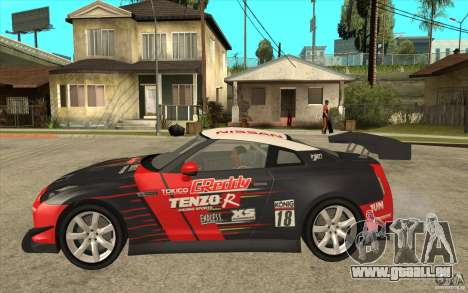Nissan GT R Shift 2 Edition für GTA San Andreas zurück linke Ansicht