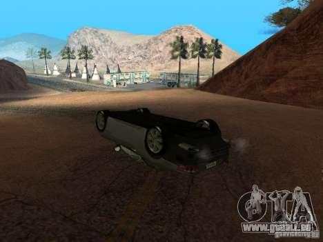 Umgestürzten Autos brennen nicht für GTA San Andreas