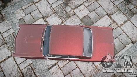 Pontiac GTO 1965 pour GTA 4 vue de dessus