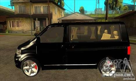 Volkswagen Caravelle 2011 SWB pour GTA San Andreas laissé vue