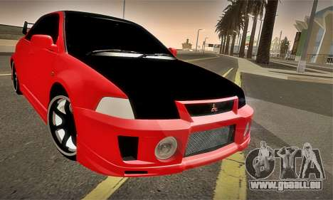 Mitsubishi Lancer Evolution 6 pour GTA San Andreas vue de dessus