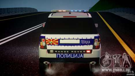 Range Rover Macedonian Police [ELS] pour GTA 4 roues
