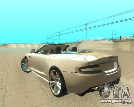 Aston Martin DBS Volante 2009 pour GTA San Andreas laissé vue