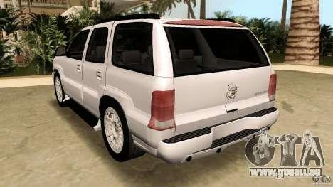 Cadillac Escalade pour GTA Vice City vue latérale