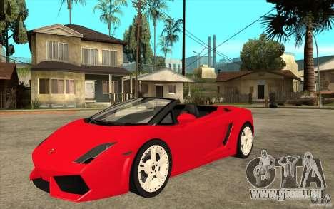 Lamborghini Gallardo LP560 Spider für GTA San Andreas