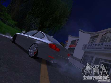 BMW 335i F30 Coupe pour GTA San Andreas laissé vue