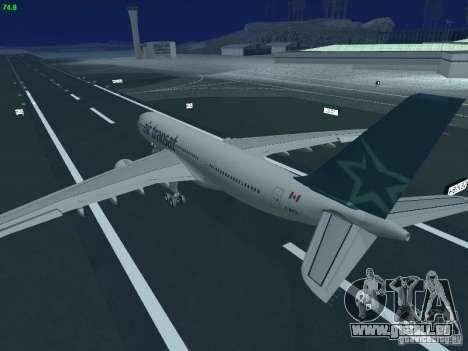 Airbus A330-200 Air Transat für GTA San Andreas obere Ansicht