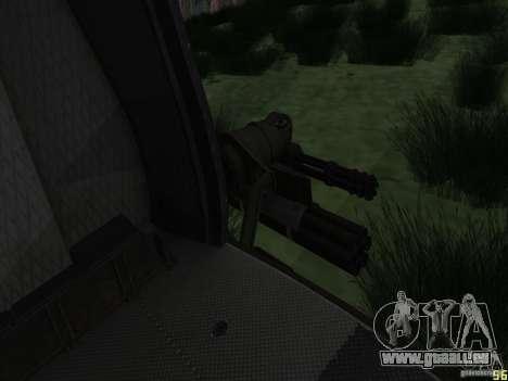 Huey Hubschrauber von Call of Duty black ops für GTA San Andreas zurück linke Ansicht