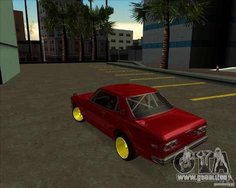 Nissan Skyline GTR 2000 pour GTA San Andreas vue arrière