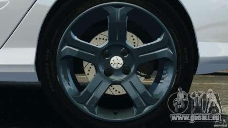 Peugeot 308 GTi 2011 Police v1.1 pour GTA 4 est une vue de dessous