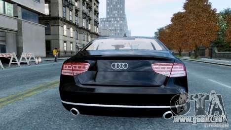 Audi A8 LED 2012 für GTA 4 rechte Ansicht