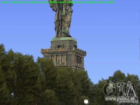 Statue de la liberté 2013 pour GTA San Andreas troisième écran