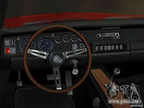 Dodge Charger 426 R/T 1968 v2.0 pour une vue GTA Vice City de l'intérieur
