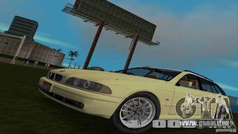 BMW 5S Touring E39 pour GTA Vice City sur la vue arrière gauche