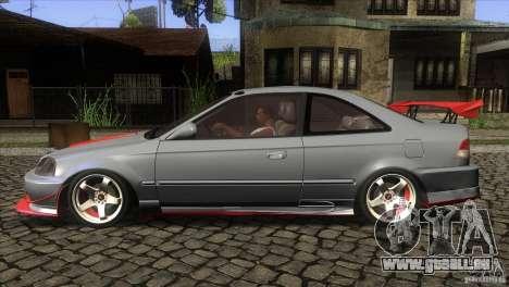 Honda Civic SI pour GTA San Andreas laissé vue